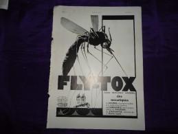 Pub De 1937 - FLY-TOX - - Reclame
