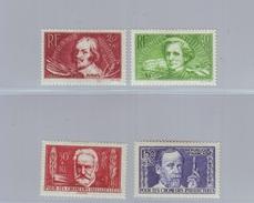 FRANCE Y&T 330/333 Au Profit Des Chômeur Intellectuels 1936 - Neufs * - Unused Stamps