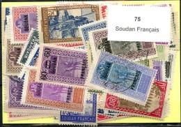 75 Timbres Soudan Francais