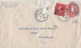 FULTON , NEW YORK - VEVEY → Ganzsache Mit Zusatzfrankatur 1902 - Entiers Postaux