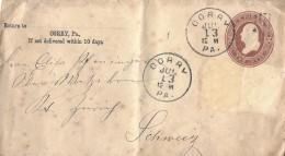 CORRY, NEW YORK - ZÜRICH → Sehr Alte Ganzsache Anno 1885