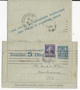 SAGE - 1887 - CARTE-LETTRE ANNONCE VOYAGEE En 1934 (AVEC BORDS !) - PUB : PAQUEBOTS-POSTE + VINS/ALCOOLS + CACAO + ...