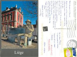 Le Banc Simenon, Liege Luik, Belgium Postcard Posted 2013 Stamp - Lüttich