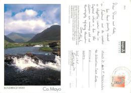 Bundirragh River, Mayo, Ireland Postcard Posted 1995 Stamp - Mayo