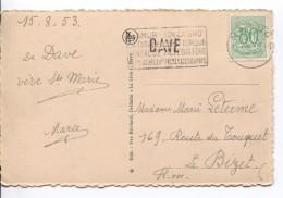 TP 857 S/CP De Dave Griffe Dave + C.méc.Namur 16/8/1953 V.Le Bizet PR3582 - Postmark Collection