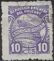 URUGUAY 1938 Parcel Post - Ship & Train - 10c. - Purple FU - Uruguay