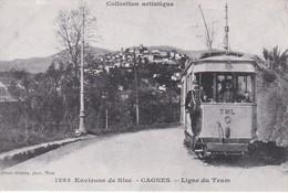 06--environs De Nice-CAGNES---ligne Du Tram--REPRO-- Carte Rééditée à L'occasion Du Centenaire Des GILLETTA-voir 2 Scans - Cagnes-sur-Mer