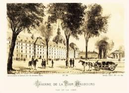 Litho   CASERNE DE LA TOUR MAUBOURG - SIEGE De PARIS  1871 - Col.Garde Nationale Mobile De La Seine 7éme Bat.- Militaria - Lithographies