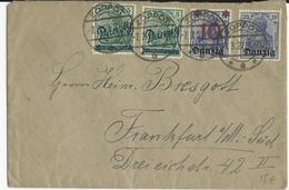 DANZIG - 1921 - ENVELOPPE De ZOPPOT Pour FRANCFORT - GERMANIA - Danzig