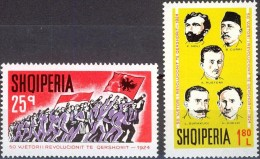 ALBANIA 1974, 50 Years SINCE The REVOLUTION In 1924, COMPLETE, MNH SET, GOOD QUALITY, *** - Albania