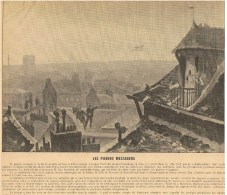 PHOTOS RECTO/VERSO-RECTO:LES PIGEONS MESSAGERS EN 1870-VERSO:PONT DU MOULIN DE CRETEIL 1870- - Vieux Papiers