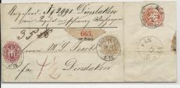 PREUSSEN - 1867 - AFFR. TRICOLORE Sur LETTRE RECOMMANDEE De BOCHOLT Pour DINSLAKEN