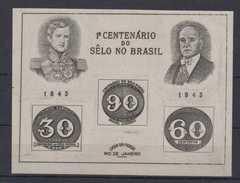 Brazil Brasil Block 6 / 1 (*) Olho De Boi 1943 - Blocs-feuillets