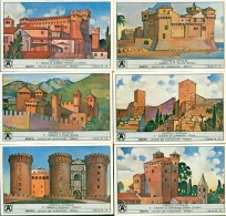 FIGURINE ABAFIL-SERIE N. 13-CASTELLI-GRADARA-AOSTA-ENNA-SANTA SEVERA-SERRALUNGA D'ALBA-NAPOLI - Cromo