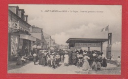 St Aubin Sur Mer  --  La Digue  --  Vente Du Poisson à La Criée - Saint Aubin