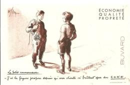 Buvard COKE Le Petit Ramoneur J'ai La Figure Propre Depuis Que Mes Clients N'brûlent Que Du COKE - Electricité & Gaz