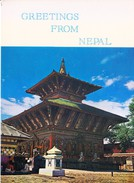COLOUR PICTURE POST CARD PRINTED IN NEPAL - CHANGRU NARAYAN TEMPLE, NEPAL - TOURISM AND HINDUISM THEME - HINDU TEMPLE - Nepal