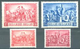 BELGIQUE - 1944 - MNH/***- LUXE - SINISTRES VOOR ONZE GETEISTERDEN- COB 697-700  Lot 14723 - Belgique