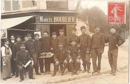 Dépt 91 - SOISY-SUR-SEINE - Carte-photo Devanture HÔTEL-RESTAURANT-TABAC Marcel BOURLIER - Soisy-sous-Étiolles - Sénart - Autres Communes