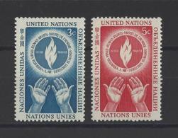 NATIONS UNIES New York  . YT  21/22  Neuf *  Journée Des Droits De L´Homme  1953 - New York -  VN Hauptquartier