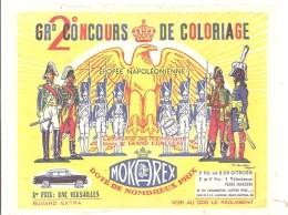 Buvard MOKAREX Epopée Napoléonienne Concours De Coloriage - Coffee & Tea