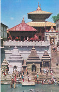 COLOUR PICTURE POST CARD PRINTED IN NEPAL - PASHUPATI NATH TEMPLE, KATHMANDU - TOURISM & HINDUISM THEME - HINDU TEMPLE - Maldives