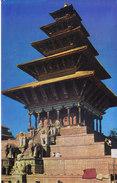 COLOUR PICTURE POST CARD PRINTED IN NEPAL - NYATAPOLA TEMPLE, BHAKTAPUR - TOURISM & HINDUISM THEME - HINDU TEMPLE - Maldives