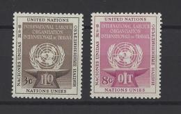 NATIONS UNIES New York  . YT  27/28  Neuf **/*  Organisation Internationale Du Travail  1954 - New York -  VN Hauptquartier