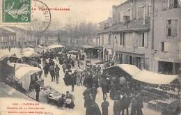 Caussade    82      Le Marché  A L' Entrée De La Promenade - Caussade