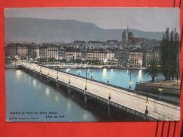 Genève / Genf - Pont Du Mont Blanc - Effet De Nuit - GE Genève