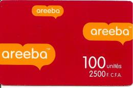 CARTE PREPAYEE-BENIN-100U-2500F CFA-AREEBA-ROUGE-TBE - Benin