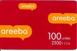 CARTE PREPAYEE-BENIN-100U-2500F CFA-AREEBA-ROUGE-TBE
