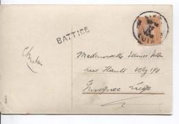 TP 108 S/CP Fantaisie Griffe Battice + C.Liège 12/9/1912 V.Liège PR3589 - Postmark Collection