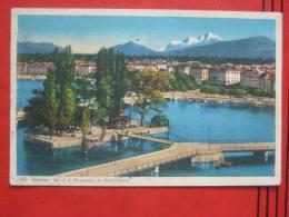 Genève / Genf - L´Ile Rousseau Et Le Mont-Blanc / Destination Togo - GE Ginevra