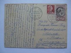 FRANCE 1955 Maxi-card Premier Jour FDC Paris To Barcelona - Covers & Documents
