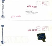 Enveloppes  Préoblitérées    Au  Départ  De  HOUSTON  (  U.S.A  )    à  Destination  FRANCE   -   Par Avion     ^^ - Amérique Centrale