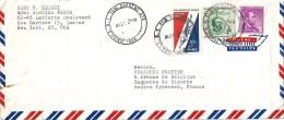 Enveloppe -  Au  Départ  De  NEW YORK (  U.S.A  ) à  Destination  De  Bagnères De Bigorre   ( 65 )  -   Par Avion     ^^ - Amérique Centrale