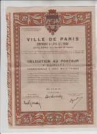 VILLE  DE  PARIS - Emprunt  à  Lots  3%  1948 - OBLIGATION  AU  PORTEUR -  N°  0.430.271 - Shareholdings