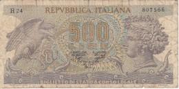 BILLETE DE ITALIA DE 500 LIRAS DEL AÑO 1970 -MEDUSA  (BANKNOTE) - [ 2] 1946-… : République