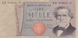 BILLETE DE ITALIA DE 1000 LIRAS DEL AÑO 1981 DE VERDI  (BANKNOTE) - [ 2] 1946-… : République