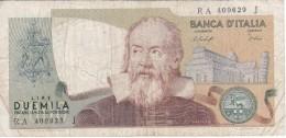 BILLETE DE ITALIA DE 2000 LIRAS DEL AÑO 1976  GALILEO  (BANKNOTE) - [ 2] 1946-… Republik