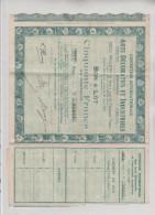 Exposition Internationale : ARTS DECORATIFS ET INDUSTRIELS - Bon à Lot Cinquante Francs -Série 073 N° 05,011 - Shareholdings
