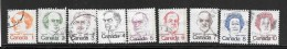 CANADA, 1973, USED  # 586 To 593A,  DEFINITIVES: CARICATURES   SINGLE - 1952-.... Règne D'Elizabeth II