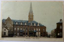 CPA  59 - Caudry - Place Thiers - 1904 - Animée - Caudry