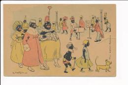 Carte Dessin Illustrateur R. De La Nézière  ( Gens De Couleur Africain ) ( Recto Verso ) Mauvais état Déchirure - Illustrators & Photographers