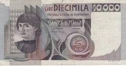 BILLETE DE ITALIA DE 10000 LIRAS DEL AÑO 1980 DE CIONINI  (BANKNOTE) - [ 2] 1946-… : República