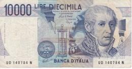 BILLETE DE ITALIA DE 10000 LIRAS DEL AÑO 1984 SERIE UD DE VOLTA  (BANKNOTE) DIFERENTES FIRMAS - [ 2] 1946-… : República