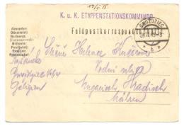 Ganzsache österreichisch Polen, Gwozdziec 1915 Nach Ungarisch Hradisch - Ganzsachen