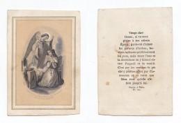 """"""" Laisse Là Les Parures Frivoles... """", Ange Et Jeune Fille, Chapelet, Image Pieuse éd. Dopter Pl. 131 - Devotieprenten"""