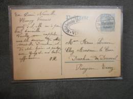 CPA Entier Postal Envoyé De Verviers à Prayon Trooz Cachet Militaire Allemand. - Verviers